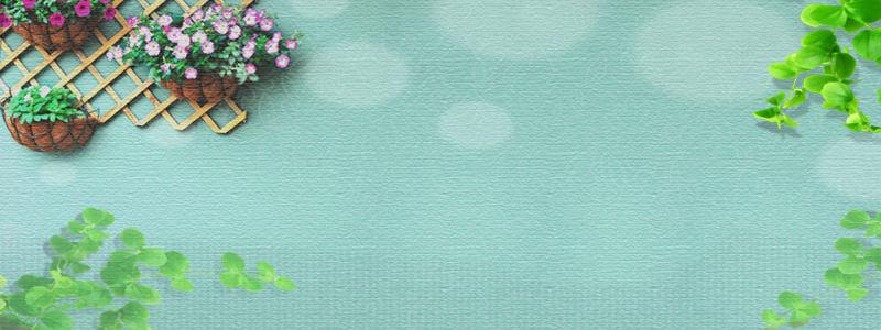 夏日清新淘宝广告banner高清背景图片素材下载
