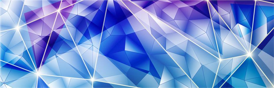 炫酷大气蓝色钻石质感淘宝海报背景