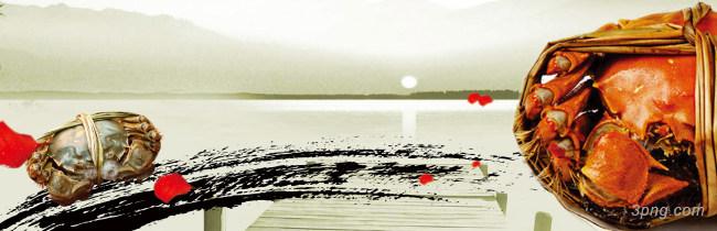 中国古风大闸蟹背景背景高清大图-大闸蟹背景自然/风光