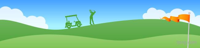 高尔夫球场banner背景背景高清大图-高尔夫球场背景Banner海报