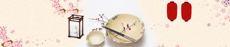 中国风餐具背景