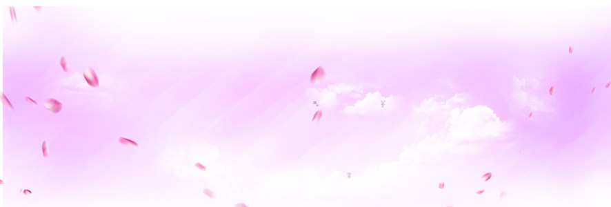 粉色紫色花瓣天空背景