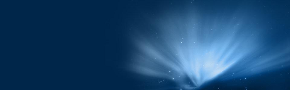 蓝色北极光淘宝背景