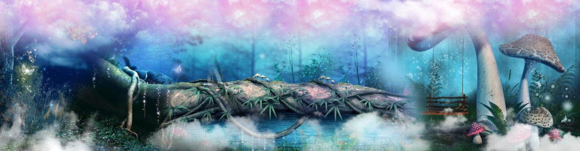 森林唯美banner背景