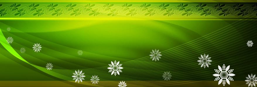 绿色精美花纹banner背景高清背景图片素材下载