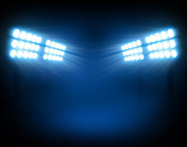 体育场的灯光背景