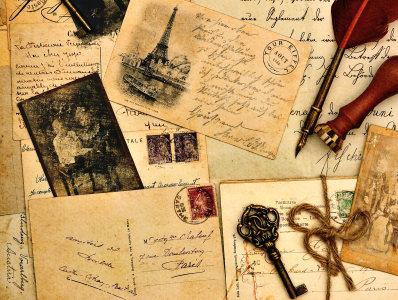 复古信纸照片背景高清背景图片素材下载