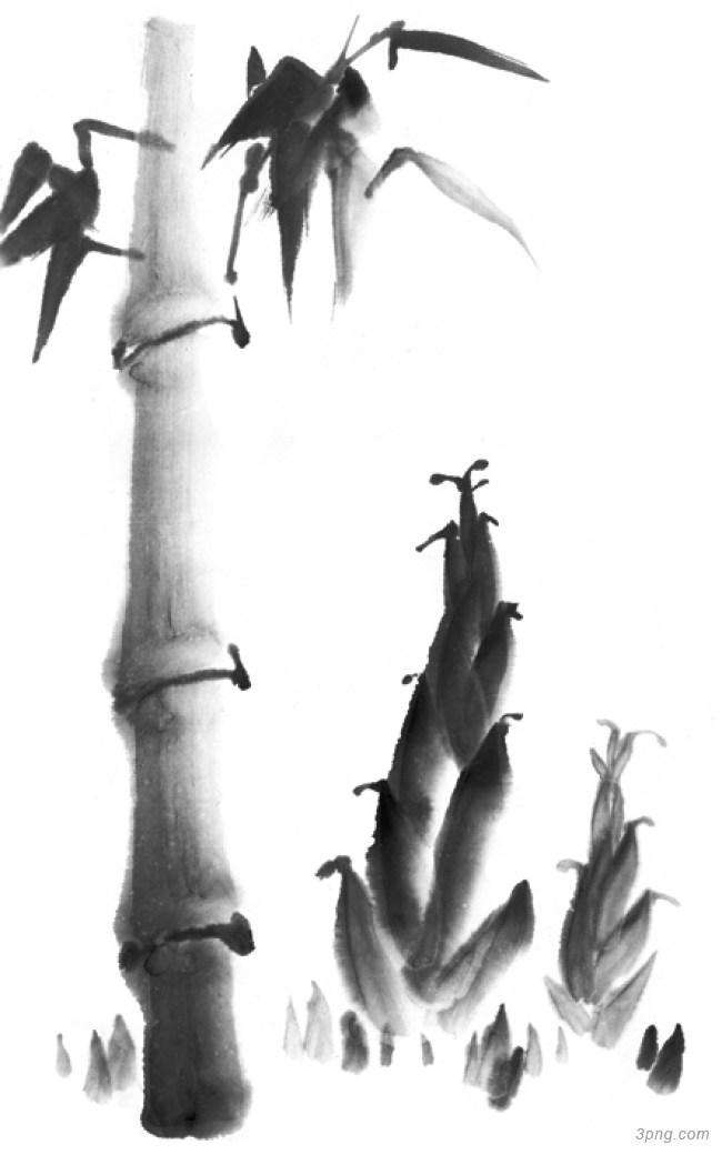 水墨竹子背景高清大图-竹子背景自然/风光