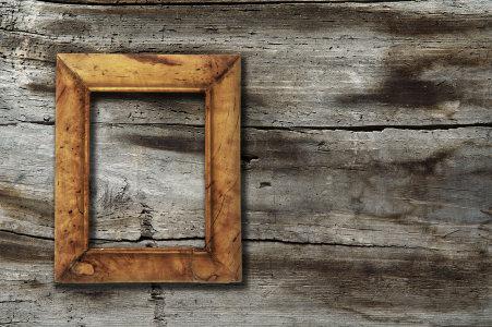 挂在墙面上的旧相框背景高清背景图片素材下载