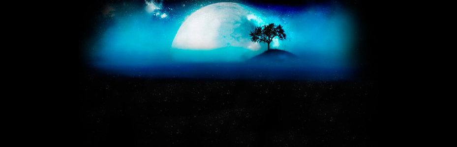 海上月光唯美背景banner