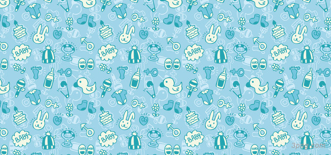 淡蓝色可爱卡通婴儿用品背景背景高清大图-婴儿用品背景卡通/手绘/水彩