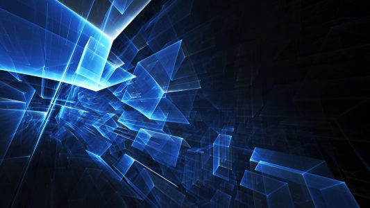 蓝色抽象炫光背景