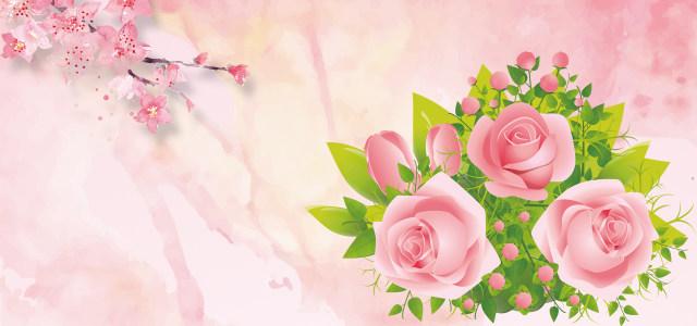 风色浪漫花朵背景