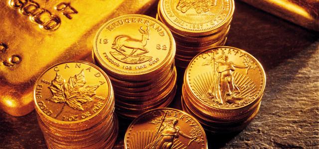 金黄色金币金条财富背景
