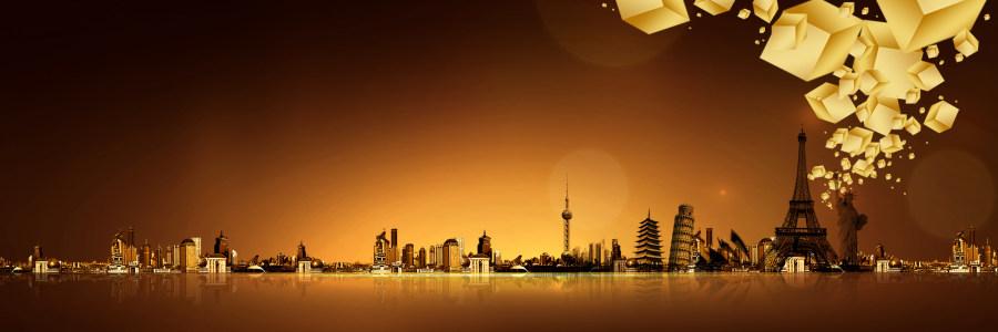 大气建筑背景高清背景图片素材下载