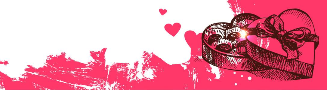 粉红色巧克力爱情Banner高清背景图片素材下载
