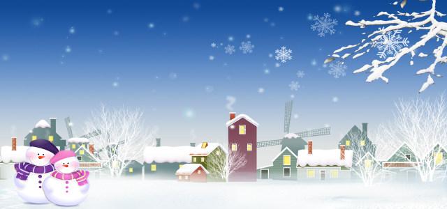 冬季卡通背景高清背景图片素材下载