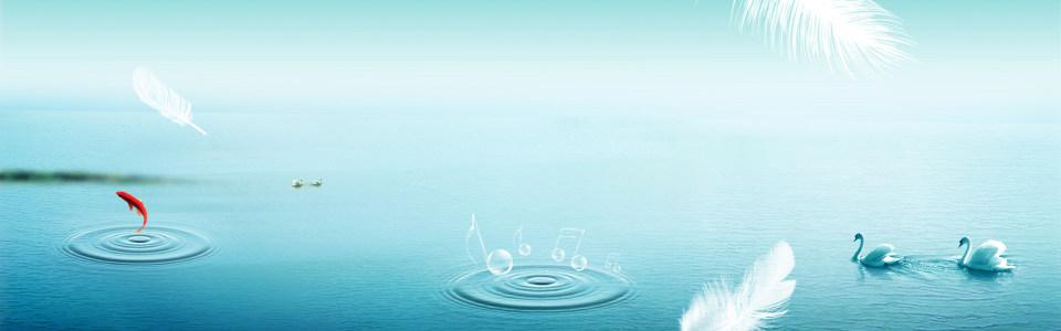 绿色湖面背景高清背景图片素材下载