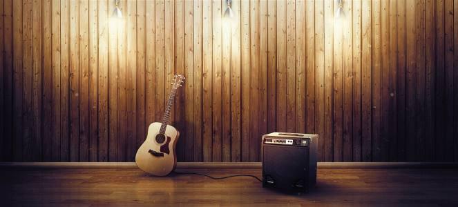 吉他音箱木板背景