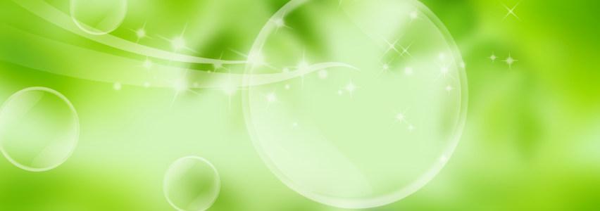 绿色泡泡清新背景banner