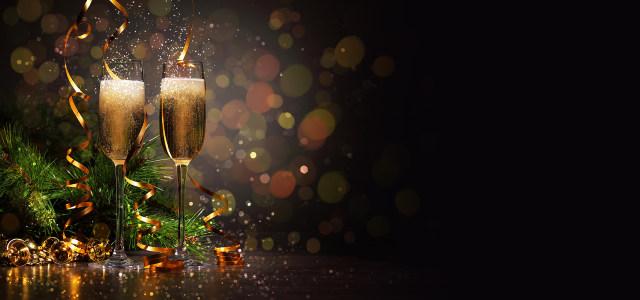 缤纷节日香槟酒背景