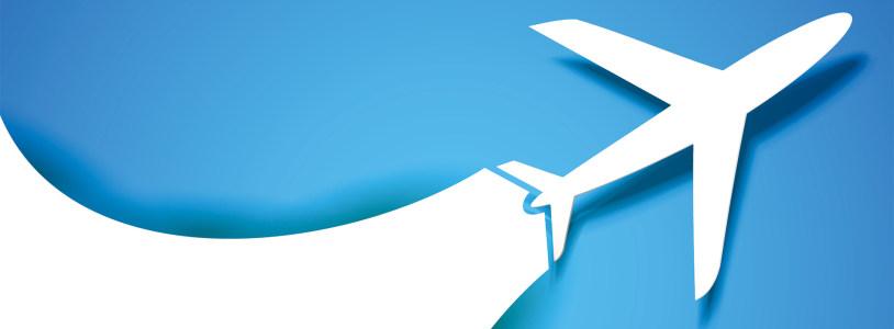 旅游飞机个性背景banner