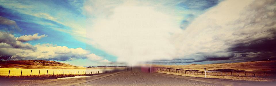 蓝天白云郊外背景
