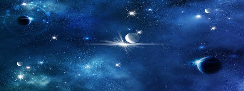 蓝色太空背景