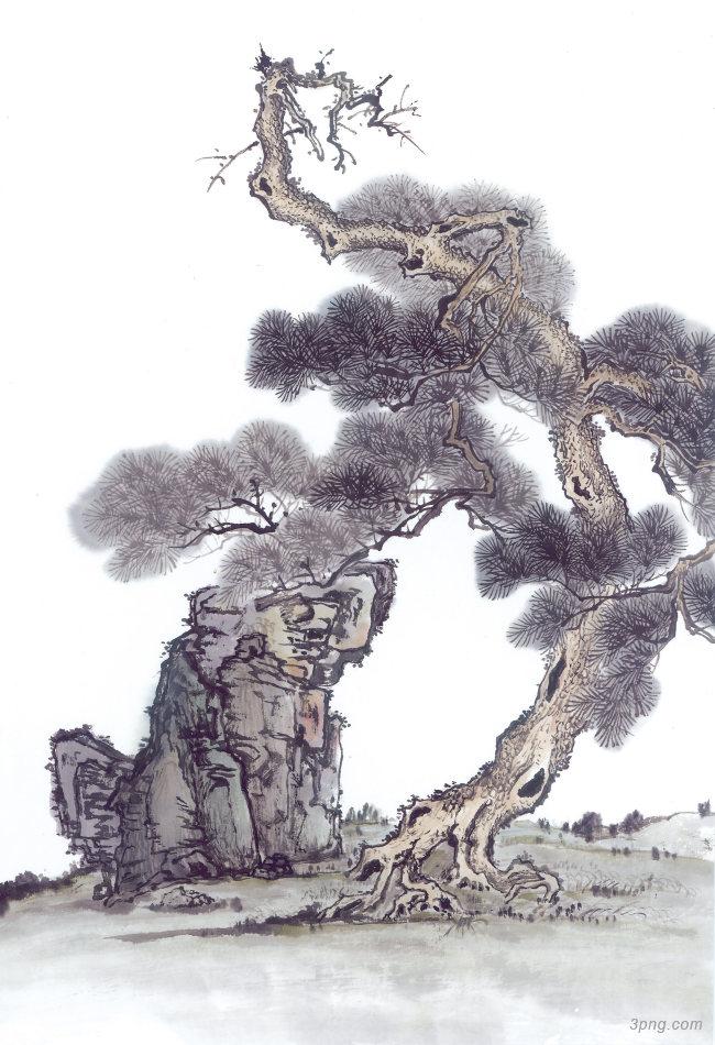 中国风古树画背景高清大图-古树背景自然/风光