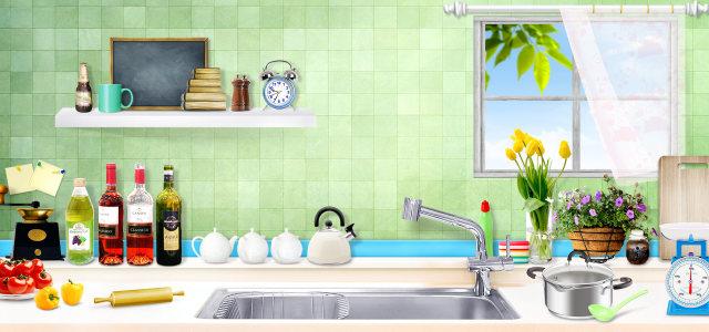 厨房餐具背景