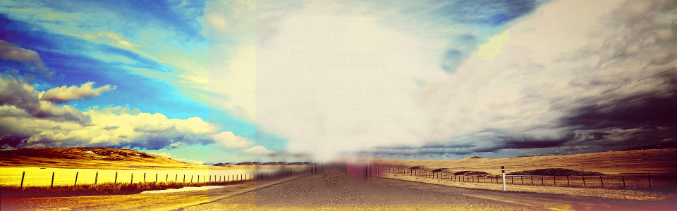 蓝天白云远山背景