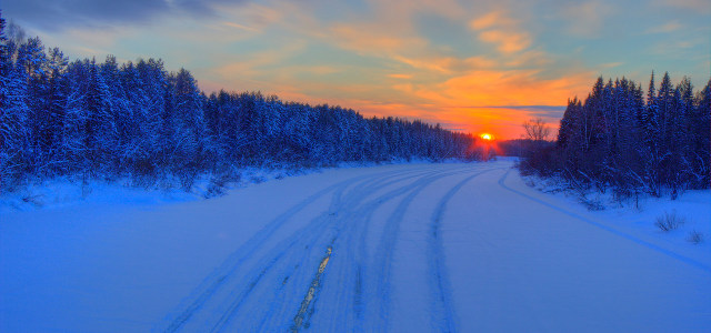 冬天自然风光背景