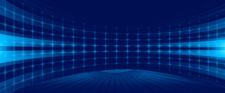 蓝色舞台背景