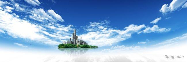 天空 城市背景高清大图-天空背景科技/商务