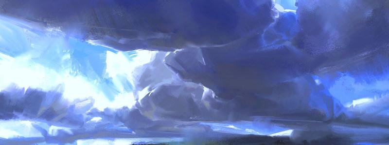 手绘冰雪世界背景banner高清背景图片素材下载