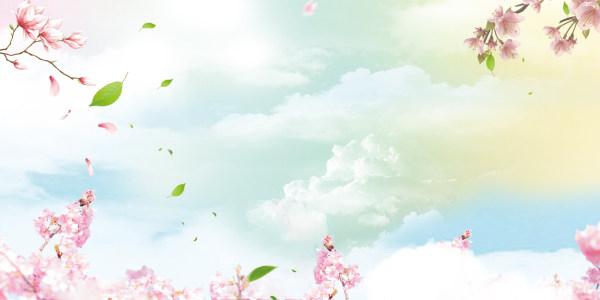 春天banner背景高清背景图片素材下载