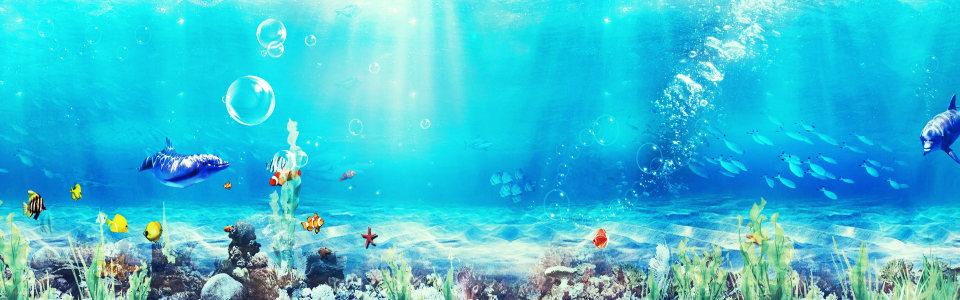 梦幻海底世界背景高清背景图片素材下载