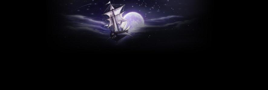 动漫帆船圆月背景banner高清背景图片素材下载