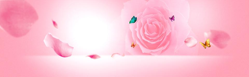 唯美玫瑰淘宝背景