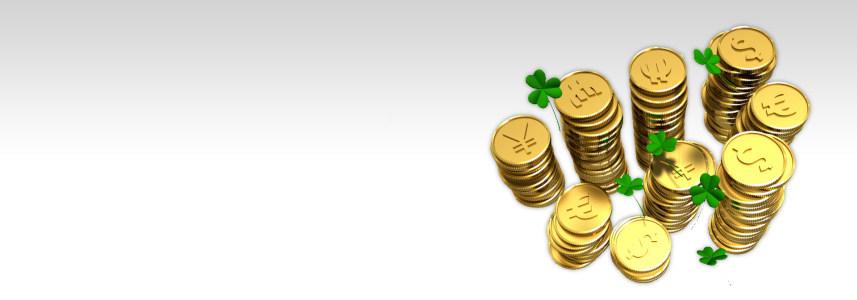 金币幸运草商务背景