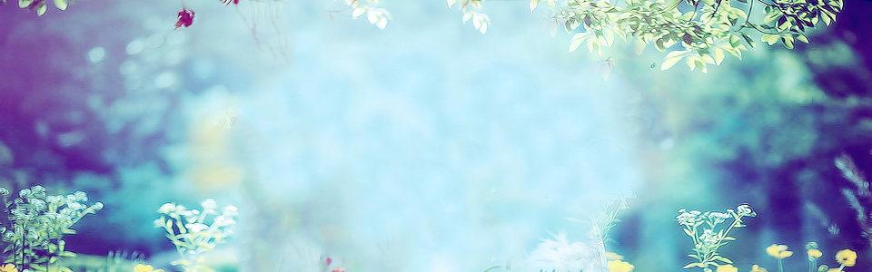 电商护肤品化妆品唯美朦胧背景banner