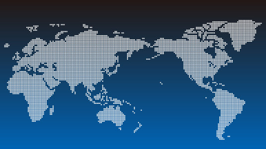 点状世界地图矢量