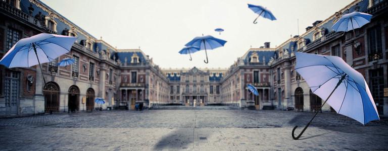 雨伞满天飞背景