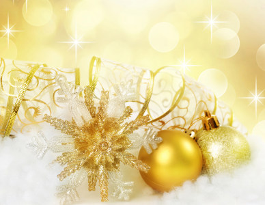 圣诞节金色背景