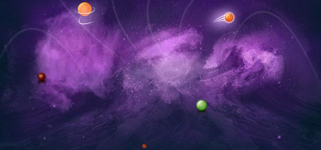 星际紫色背景