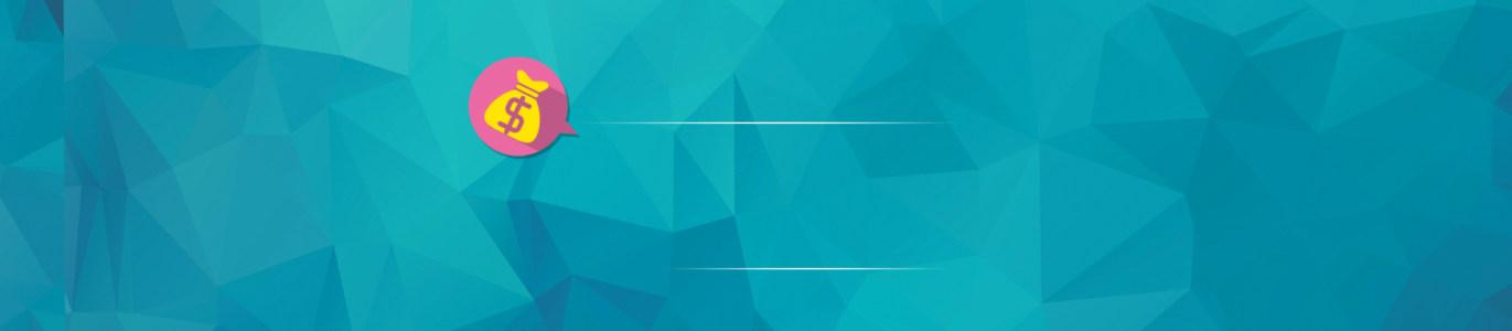 电商金融理财蓝色立体块背景banner