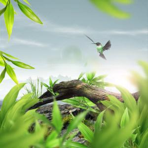绿色唯美小清新背景