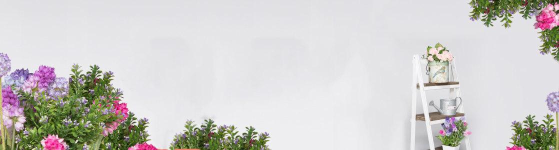 时尚花朵背景海报