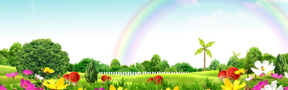 唯美田园美丽景色海报背景高清背景图片素材下载