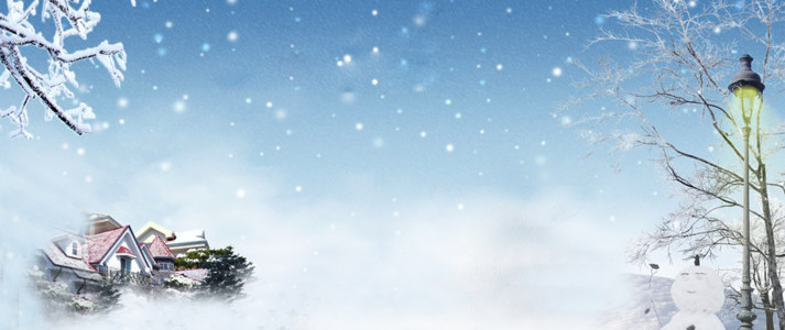 冬季主题海报背景